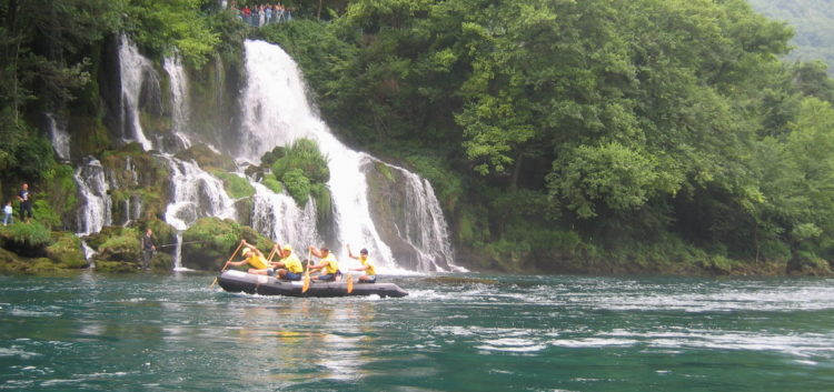 Rafting on Drina River